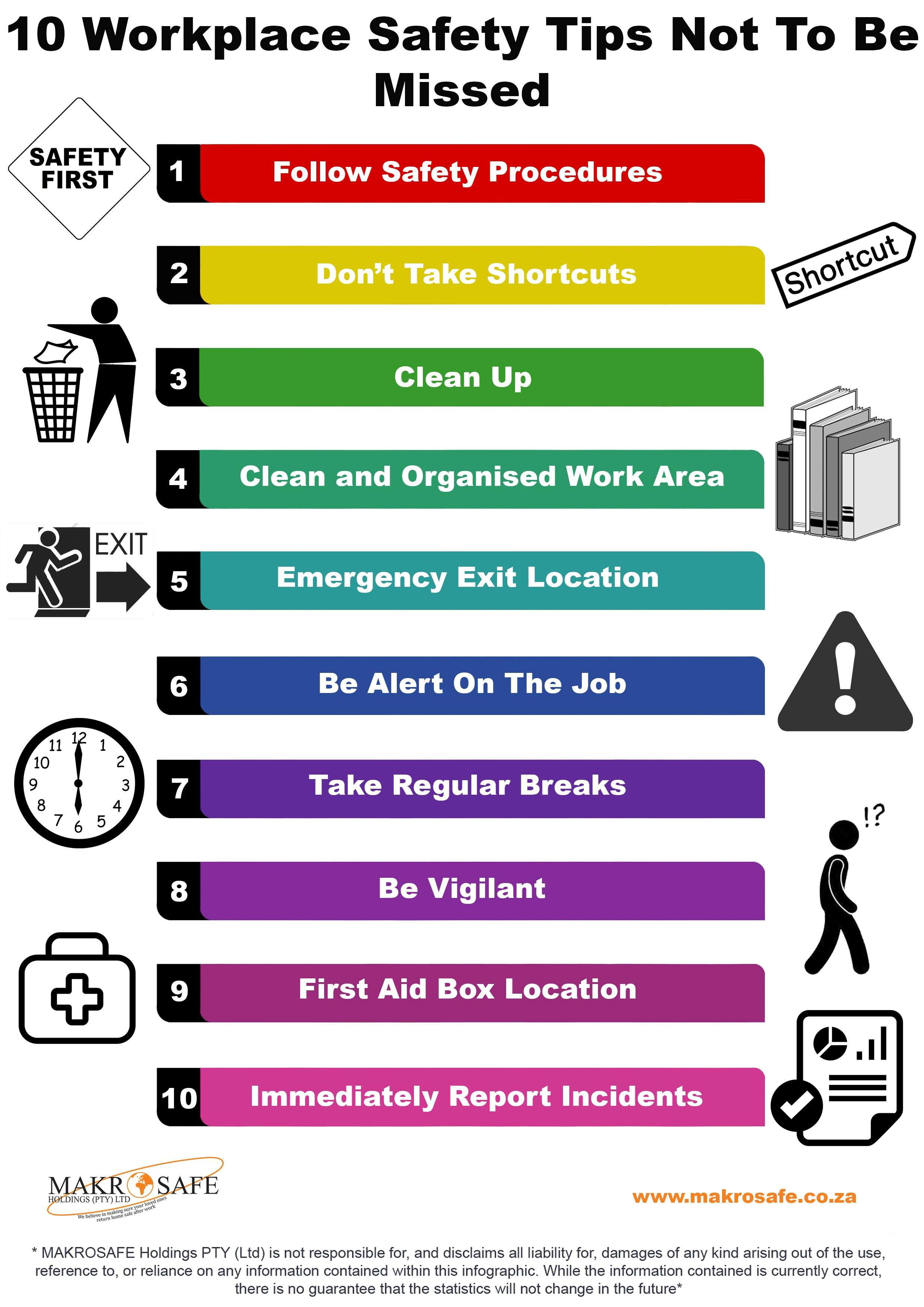 10 workplace safety tips not to be missed